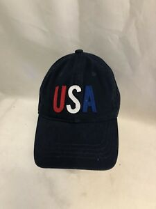 1511dbceb57 Image is loading Old-Navy-America-USA-Blue-Adjustable-Baseball-Hat-