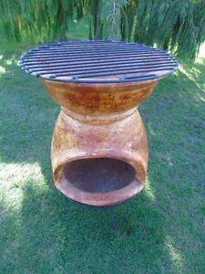 brasero mexicain a feu de bois a 2 étages barbecue , nouveau ! voir ...