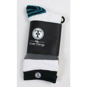 The-Finer-Things-Golf-Series-Mens-O-S-Crew-Socks-White-Grey-Teal-Black-White