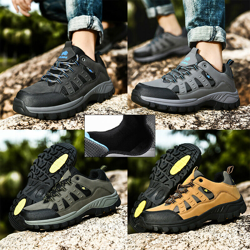Mens Hiking Trainers Womens Outdoor Sports Walking Terkking Camping Shoes Boots