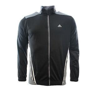 Adidas Hommes Essentials 3S Climalite Fermeture Éclair Haut de ... 3d5eaa0ca81