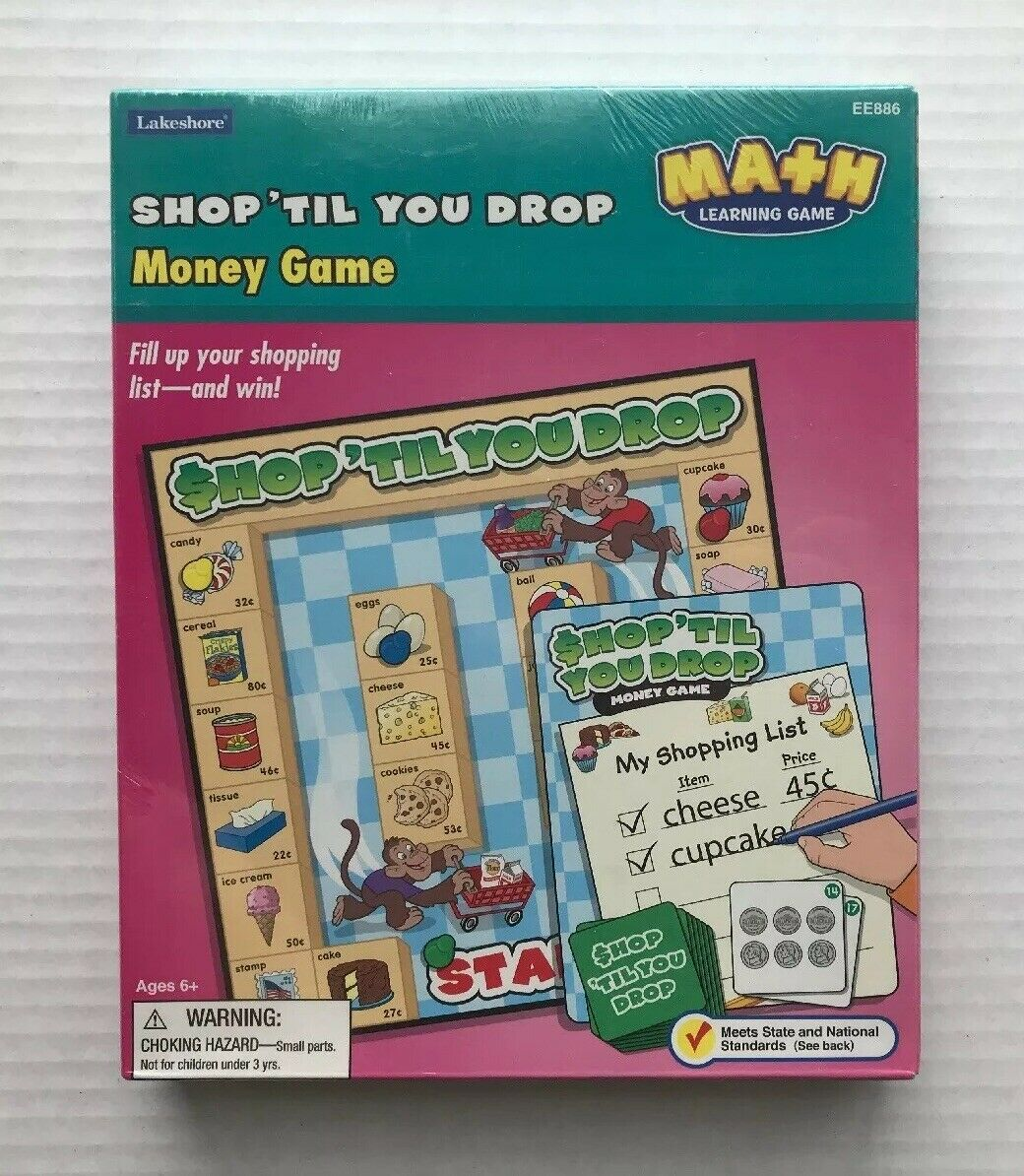 NEW Lakeshore Shop 'Til You Drop Money Math Learning Game Very RARE Sealed!