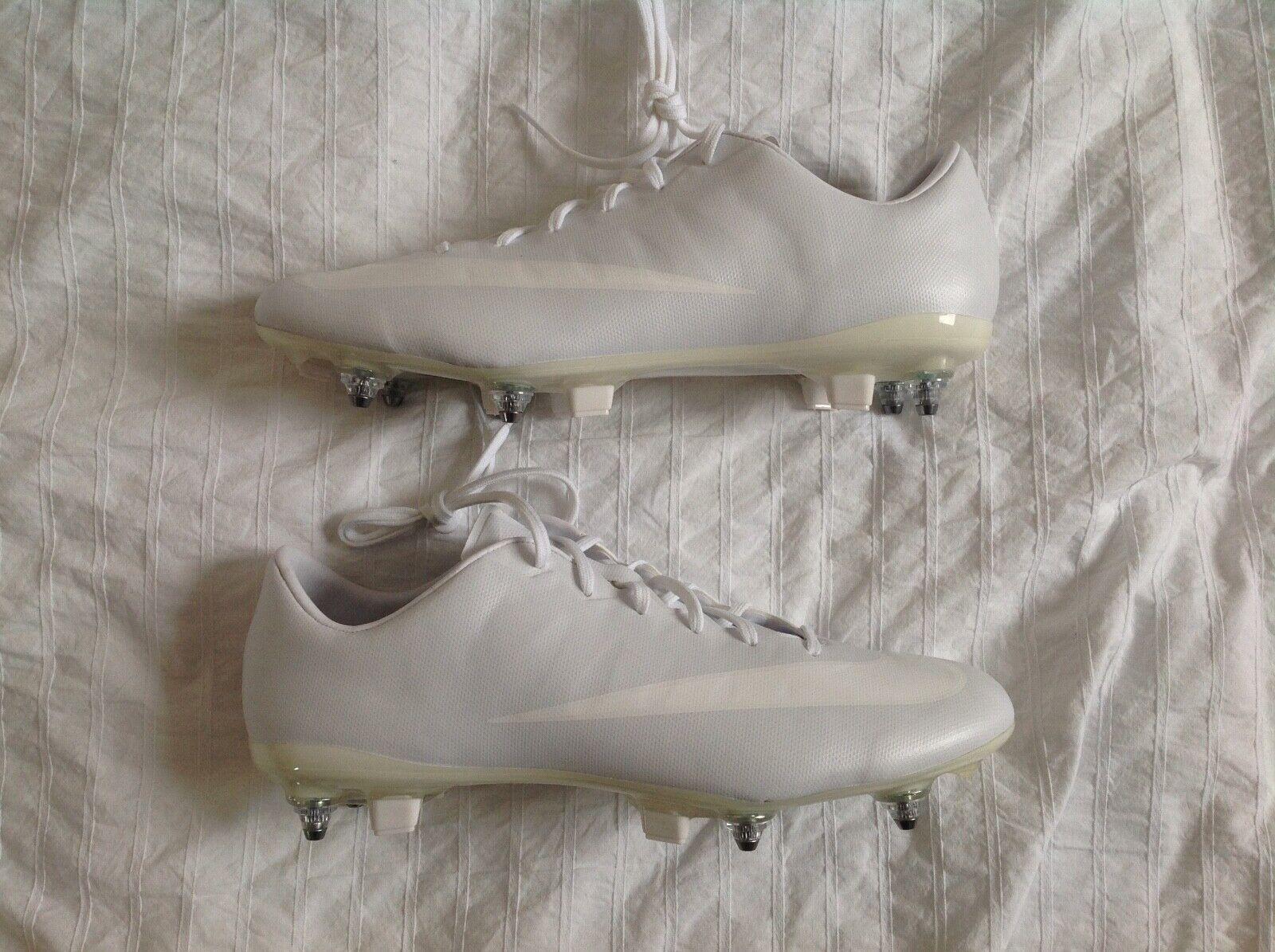 NIKE ID MERCURIAL VAPOR SG FOOTBALL BOOTS US 9 WHITEOUT WHITE RARE