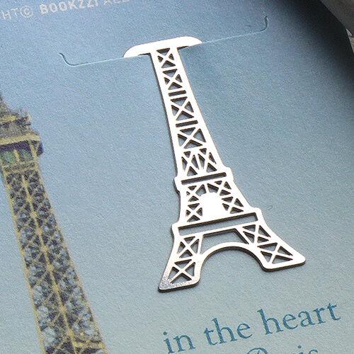 mini Metal Bookmark France Paris Eiffel Tower Travel Souvenir Index Decoration