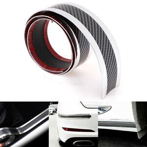 5CM-1M-Car-sticker-carbon-fiber-rubber-door-sill-protector-edge-guard-strip-WH