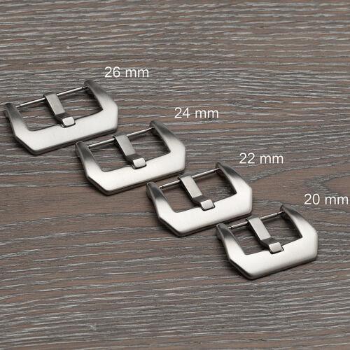 Bracelet Montre Boucle Bande Fermoir en acier inoxydable brossé de rechange 20 22 24 26 mm