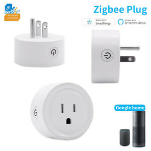 ZigBee-Smart-Plug-Socket-Outlet-Switch-US-Plug-for-Alexa-Samsung-SmartThings-Lot