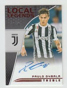 2018-19 Panini Treble Soccer Autograph Auto Card :Paulo Dybala #14/50