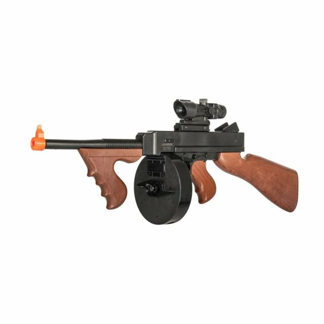 350 Fps Thompson M1921 Spring Airsoft Rifle Tommy Machine Gun 6mm Bb Bbs Wwii For Sale Online Ebay