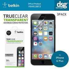 "BELKIN SCREEN GUARD LCD PROTECTOR FOR APPLE IPHONE 6 PLUS 5.5"" CLEAR NEW 3 PACK"