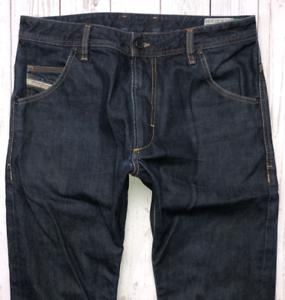 Da-Uomo-DIESEL-Krooley-Jeans-W32-L32-blu-scuro-REGULAR-SLIM-CARROT-Wash-0088Z