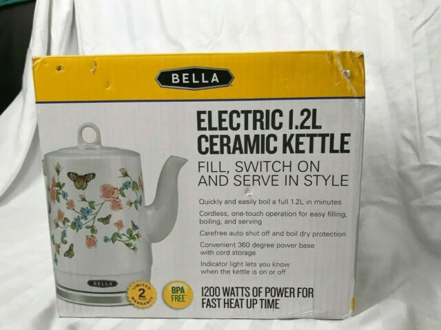 Nouveau Bella Bouilloire électrique 1.2 L BUTTERFLY MEADOW Céramique Bouilloire-Free Ship