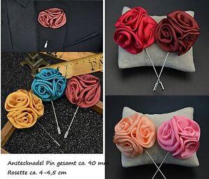 Accessoires Treu Pin Reversenadel Anstecknadel Blume Satinblume Brosche Nadel Reverse Brooch Pin