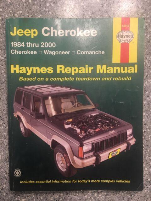 Haynes Repair Manual 1553 Jeep Cherokee 1984 Thru 1991 For