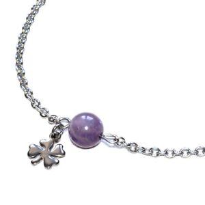 Chaine-bracelet-de-cheville-acier-coul-argent-Amethyste-breloque-bijou