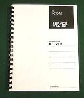 Icom Ic-718 Service Manual: Card Stock Covers, 32lb Paper & Svc Addendums
