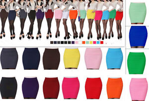 Skirts-Women-039-s-Bodycon-Slim-Stretch-Bandage-Micro-Mini-Skirts-Size-Fit-6-gt-14-BNWT