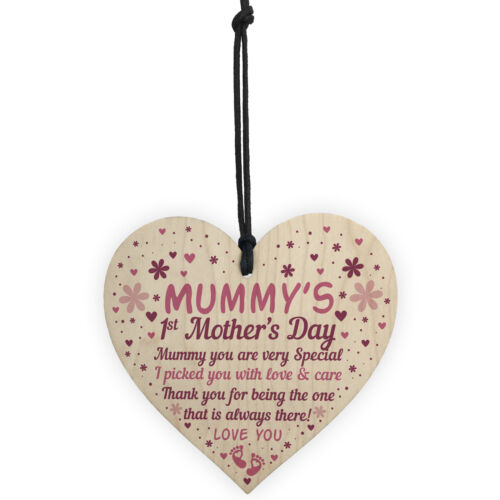 Mummy To Be Mothers Day Gifts Wooden Heart First Mothers Day Mum Gifts
