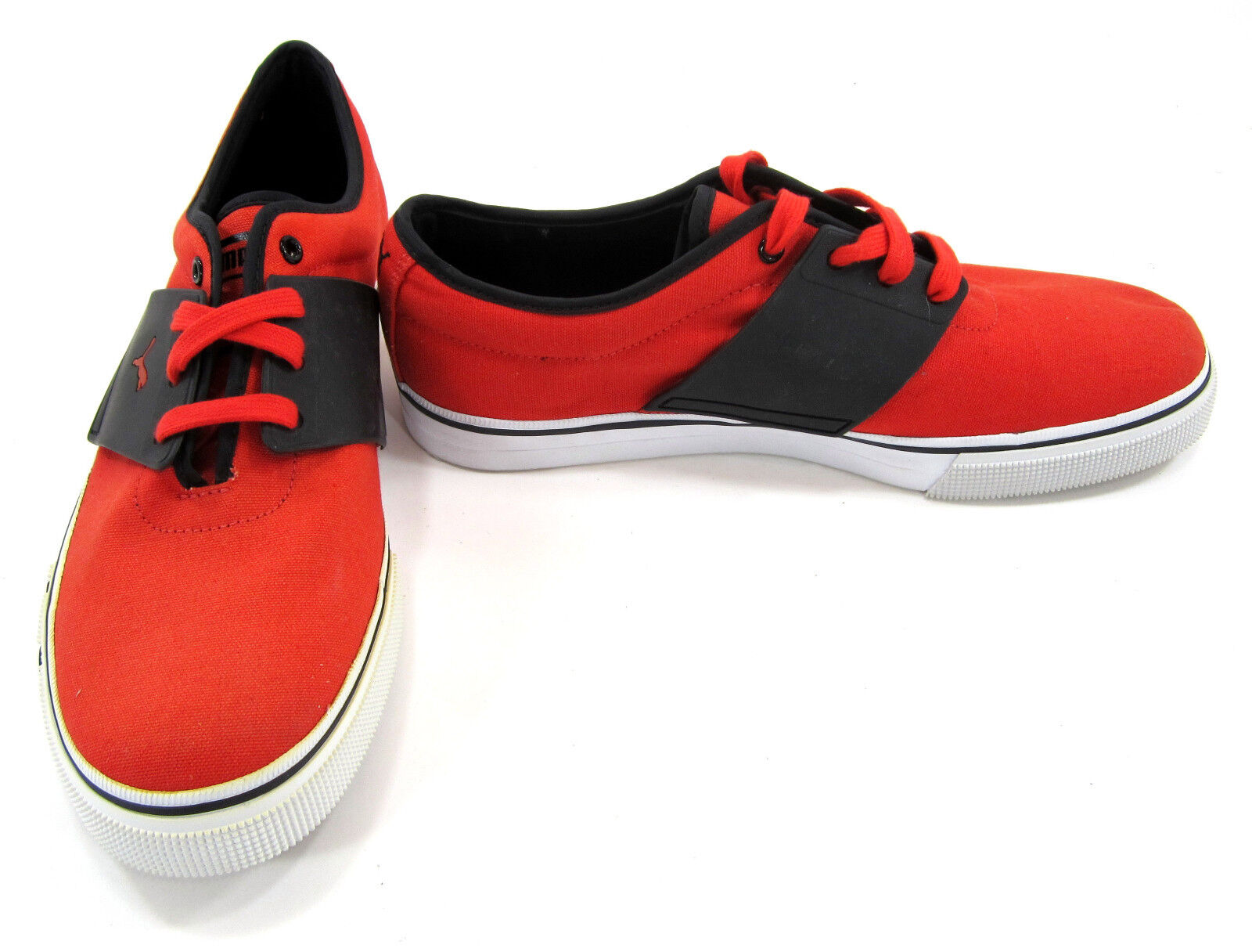Puma shoes El Ace Canvas Red Red Red Black Sneakers Size 9.5 b8e2e1