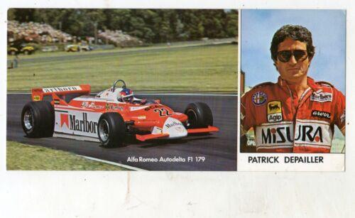 CARTONCINO PATRICK DEPAILLER  ALFA ROMEO  AUTODELTA  F1  179 STAGIONE  1980