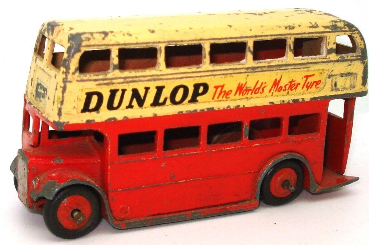 Dinky no. 29C Doble Decker Decker Decker Autobús-Dunlop 1954-RARE-L2 06b5c0