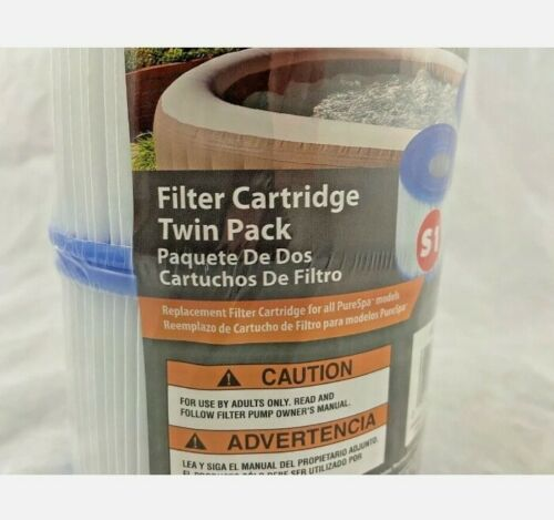 NEW Type S1 Twin Pack Filter Cartridge for PureSpa Intex