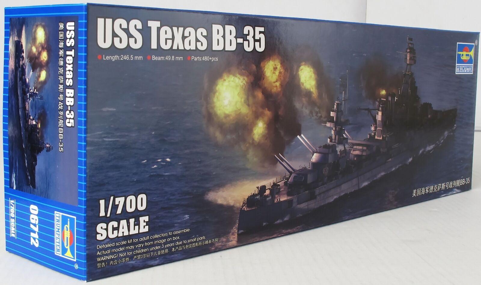 Trumpeter 1 700 06712 USS Texas BB-35 Model Ship Kit