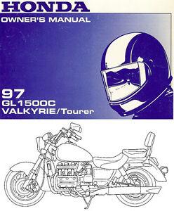 1997 honda gl1500c valkyrie tourer motorcycle owners manual gl 1500 rh ebay com honda valkyrie manual free download honda valkyrie owners manual pdf