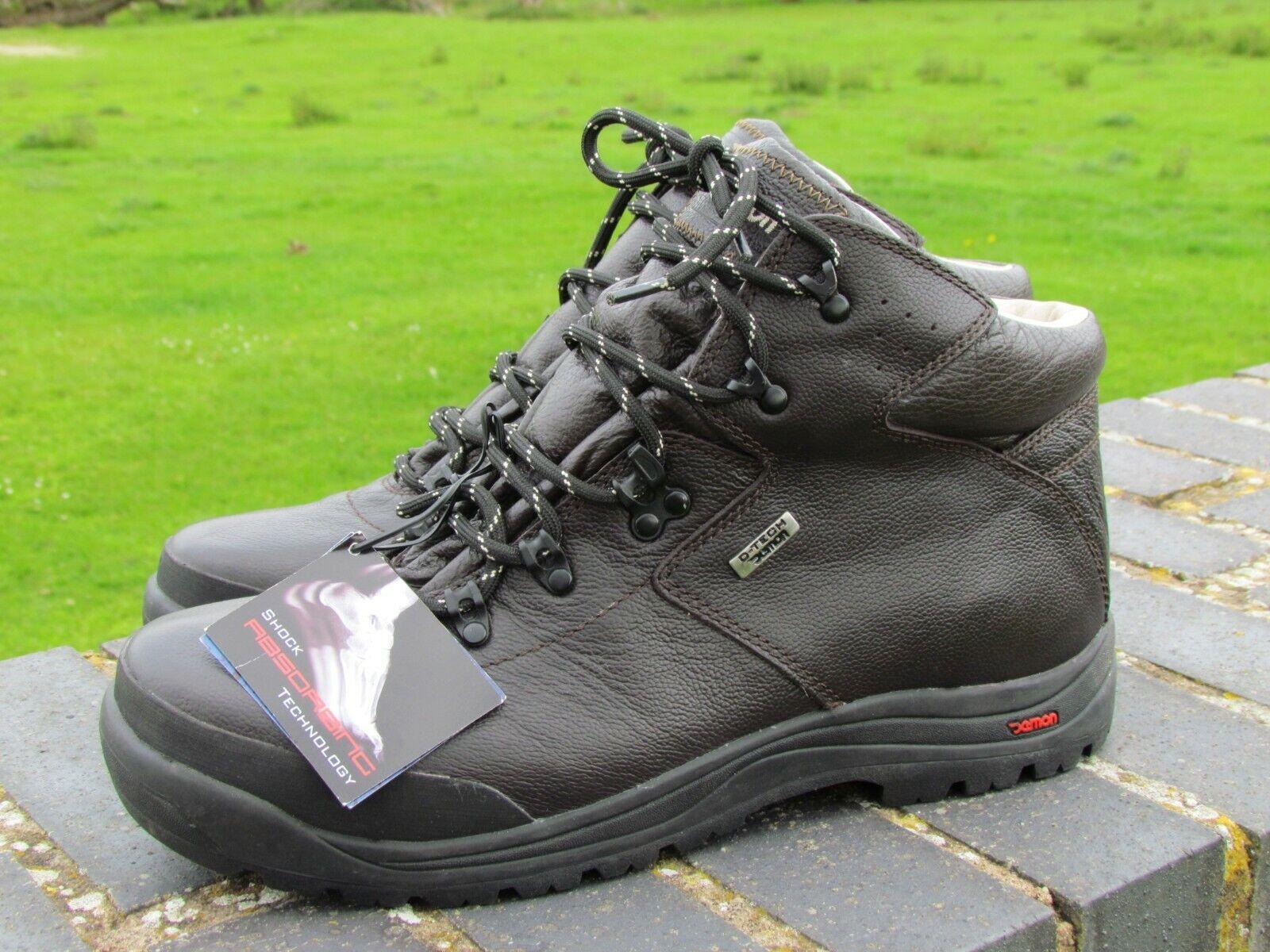 Men's DEMON amortiguador tecnología de caminar o de seguimiento de la bota de cuero