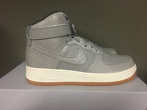 9212dd64e17d WOMEN'S NIKE AIR FORCE 1 HIGH-TOP PREMIUM WOLF GREY/WOLF GREY-MIDNIG ...