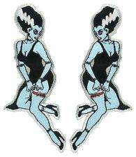 Bride Of Frankenstein Patch Pair Tatto Art Goth Punk Horror Monster Burlesque