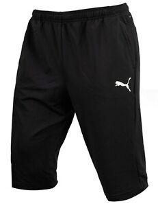 Details about Puma Men LIGA Training 3/4 Shorts Pants Black Football Soccer GYM Pant 65531503