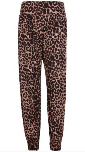 Nouveau Femme Femme Hareem Pantalon Bouffant Imprimé Pantalon Grande Taille 8-26