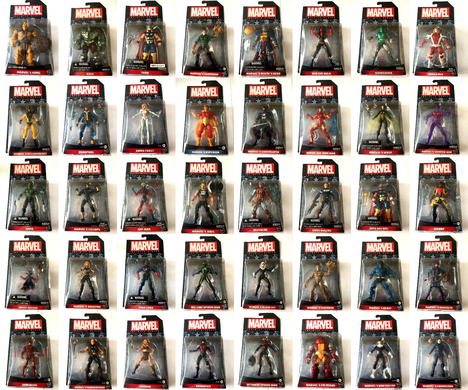 """Marvel Infinite Series Huge Choice Of 3.75/"""" Action Figures Still Sealed On Cards"""