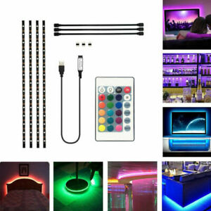 DC-5v-5050-RGB-TIRA-DE-LUCES-LED-Tv-Parte-Trasera-Kit-iluminacion-USB