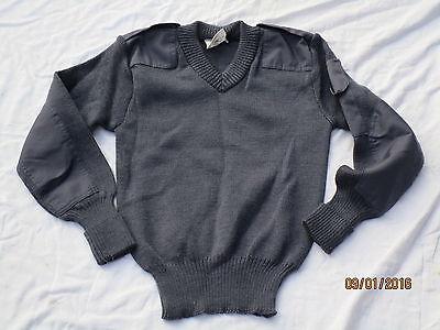 112cm, Gr Neck Englischer Pullover,Jumper Utility,blue-grey,RAF,Luftwaffe,V