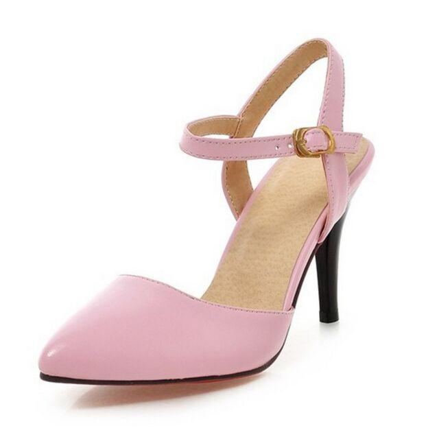 6bc603278f1 Vintage Mid Heel Career Ankle Strap High HEELS UK Sz 0 1 2 3 4 5 6 7 8 Pink  UK 5 ( Size Tag CN 39)