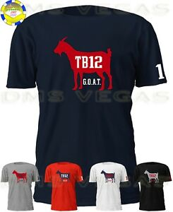 new style 6fff8 10e92 Details about New England Patriots Tom Brady G.O.A.T. TB12 Jersey Tee Shirt  Men S-5XL Shadow