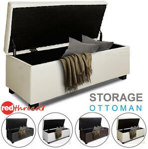 Ottoman-Foot-Stool-Storage-Bed-PU-Leather-Chest-Toy-Large-Blanket-Box-Seater-New