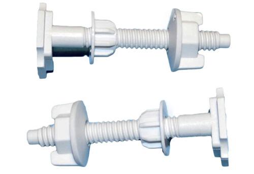 2 Toilet Seat Fixings Screws Washers//Stabilisers Fit Toilet Hinges Nuts