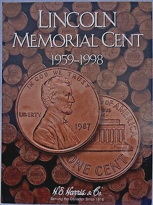 Harris Cent Folder Coin Storage Album Penny 1 Cent Lincoln Wheat Memorial H.E