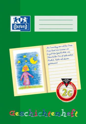 A4 Schulhefte Heft -farbig hinterlegt- NEU! 1 Geschichtenheft 2 Kl OXFORD