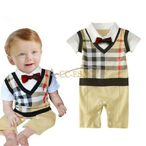 d8c1f7409762 Baby Boy Wedding Christening Formal Dressy Party Tuxedo Suits Outfit ...