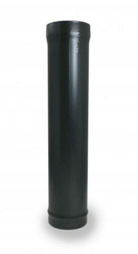 "5/"" x 600mm Matt Black Flue Pipe for Woodburning Multi Fuel or Gas Stoves"