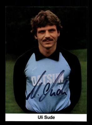 Uli Sude Autogrammkarte Borussia Mönchengladbach 1981-82 Original Signiert