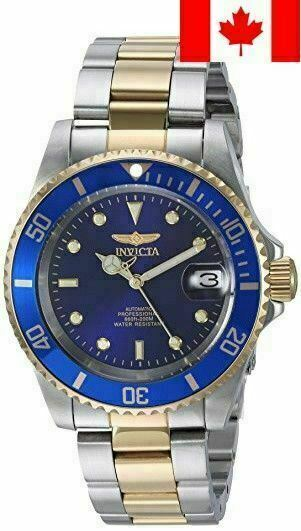 Water Resistant Goldplated Stainless Steel  Blue Dial Two Tone  Men's  Watch Pro