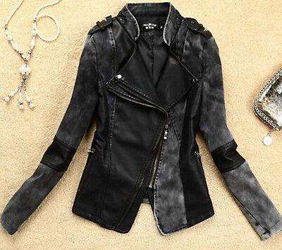 Women leather jacket 2015 women's clothing biker motorcycle jackets leather coat