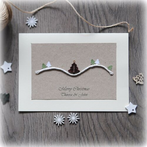 Mum Dad Friend Pack Of 5 Beautiful LUXURY Personalised Handmade Christmas Cards
