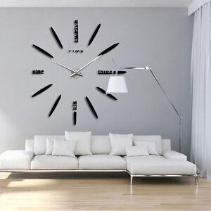 Modern-Large-Wall-Clock-Art-Design-DIY-3D-Mirror-Surface-Sticker-Home-Decor-DIY