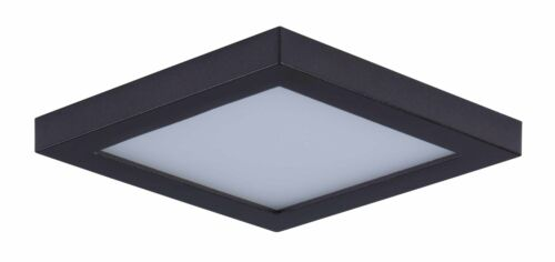 "3000K Outdoor Led Ceiling Light Maxim 57720 Bronze Wafer 4.5/"" Square Indoor"